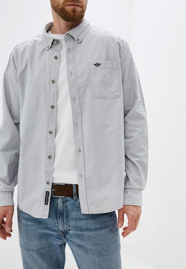 мужская рубашка с длинным рукавом dockers, серая