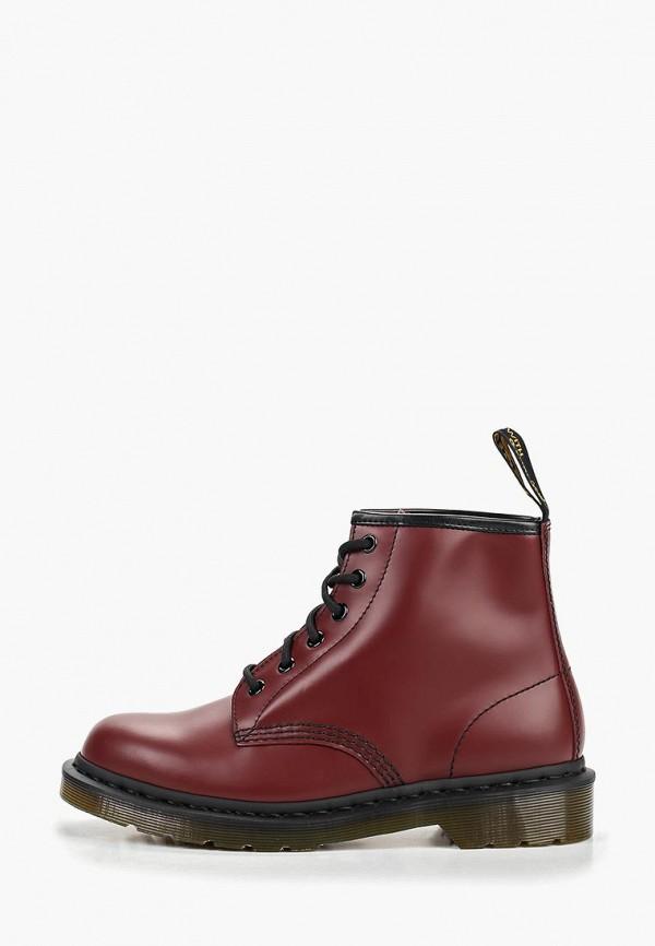 Купить Ботинки Dr. Martens, 6 Eyelet Boot Z Welt Dms Sole, dr004aubayu1, бордовый, Весна-лето 2019