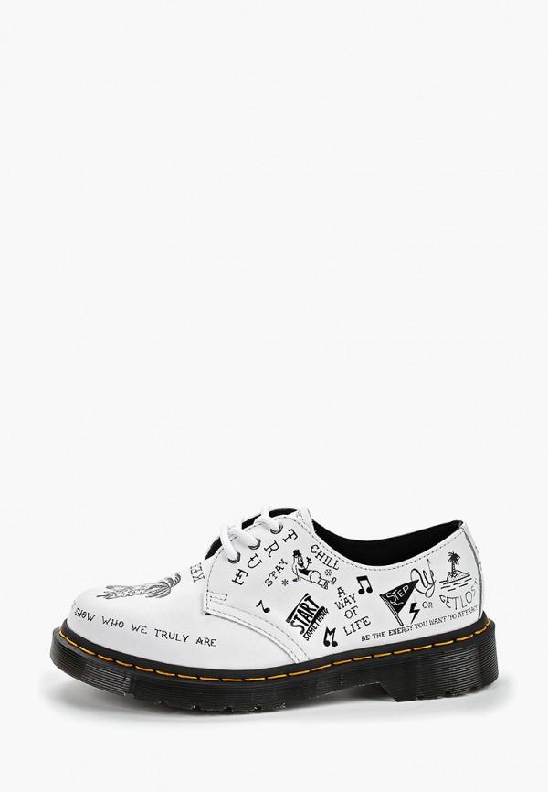 женские туфли dr. martens, белые