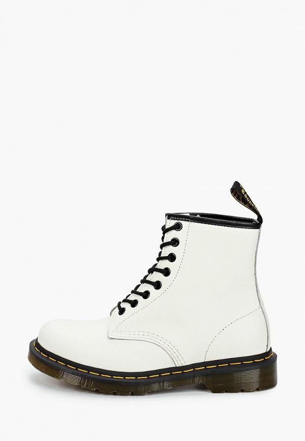 женские ботинки dr. martens, белые