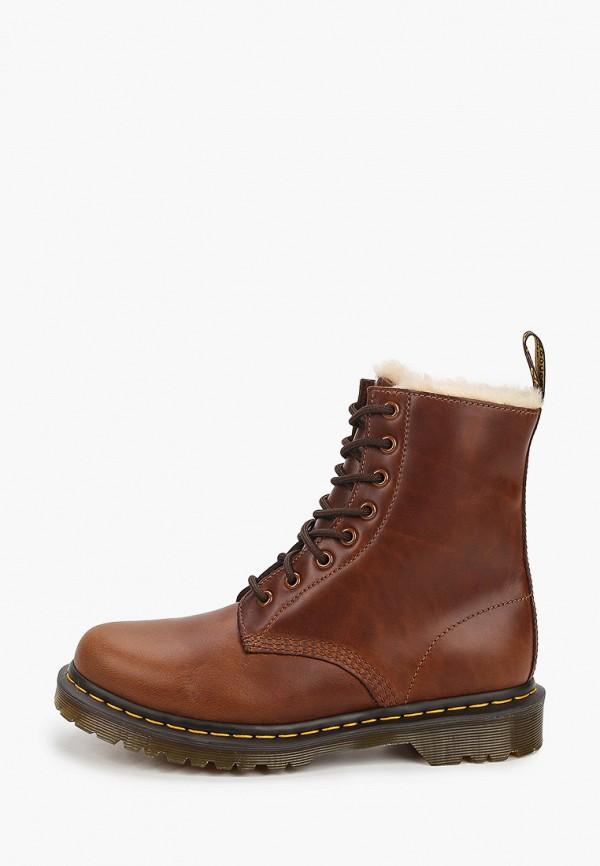 женские ботинки dr. martens, коричневые