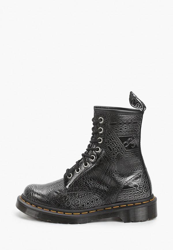женские ботинки dr. martens, серые