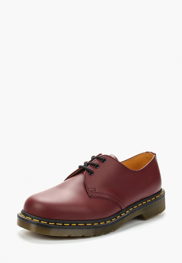 женские туфли dr. martens, бордовые