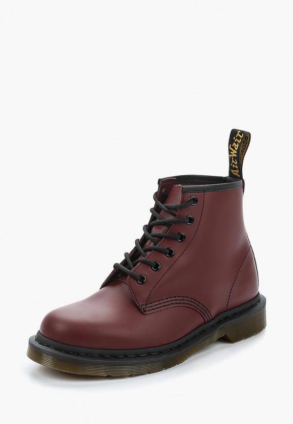 Купить Ботинки Dr. Martens, 6 Eyelet Boot, dr004awbayu1, бордовый, Осень-зима 2018/2019