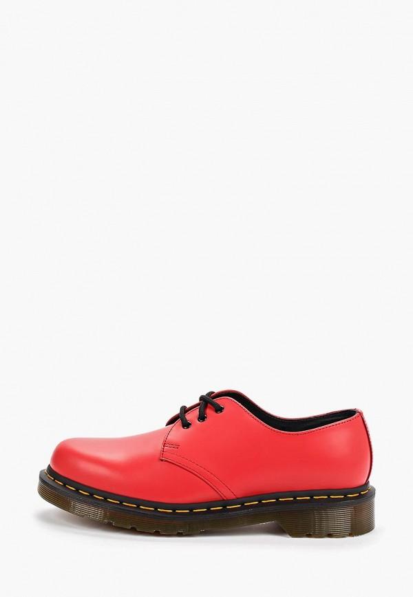 женские ботинки dr. martens, красные
