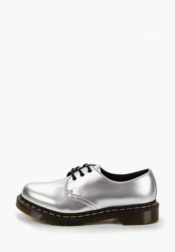 женские ботинки dr. martens, серебряные