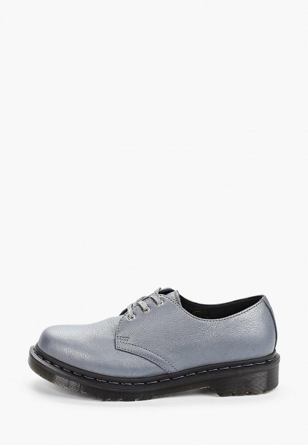 женские ботинки dr. martens, голубые