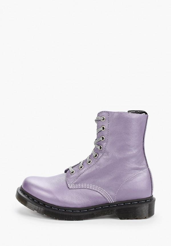 женские ботинки dr. martens, фиолетовые