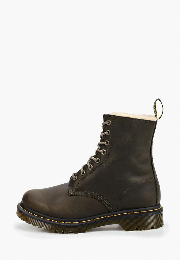 женские ботинки dr. martens, хаки