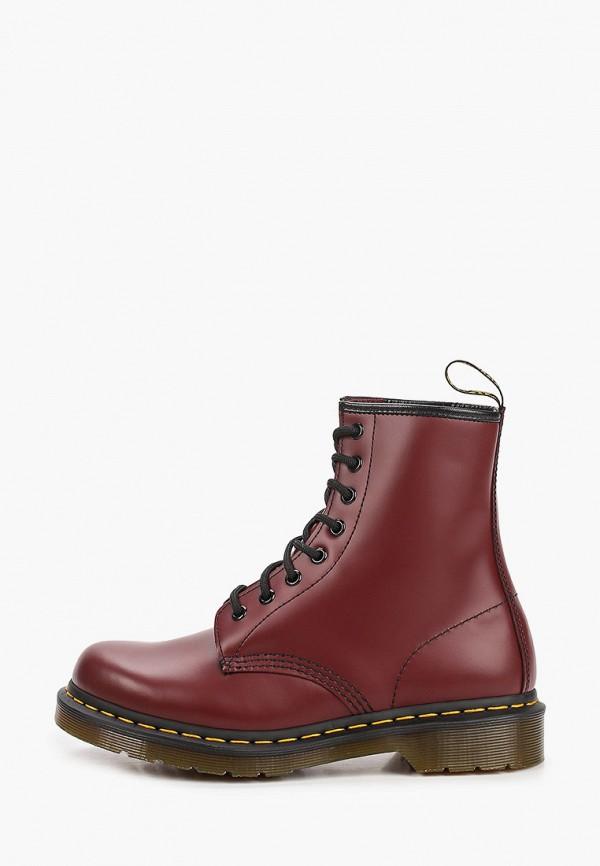 женские ботинки dr. martens, бордовые
