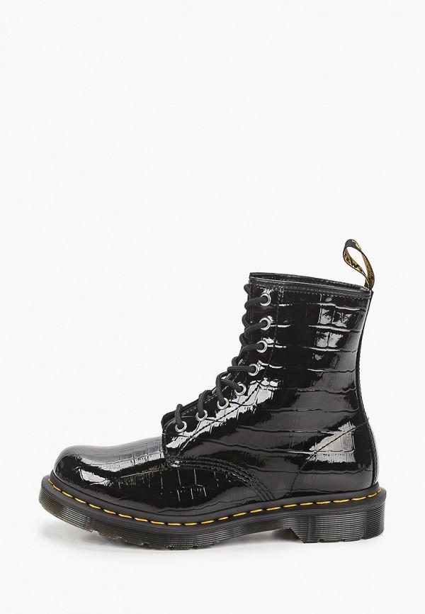 женские высокие ботинки dr. martens, черные