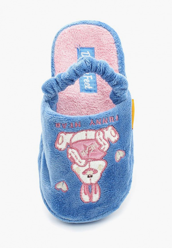 Фото 4 - Тапочки Dream Feet голубого цвета