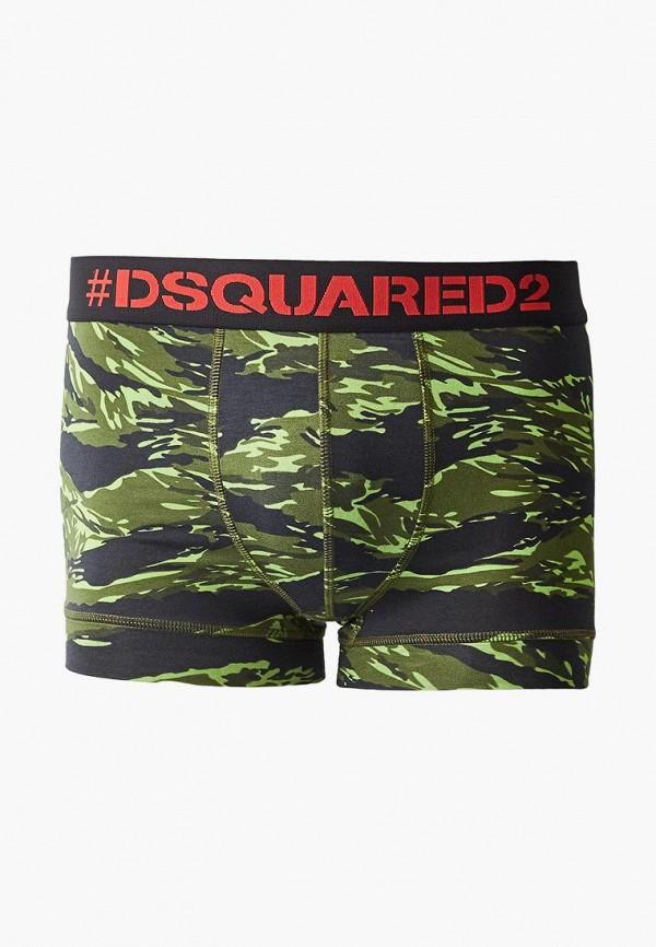 мужские трусы-боксеры dsquared underwear, зеленые
