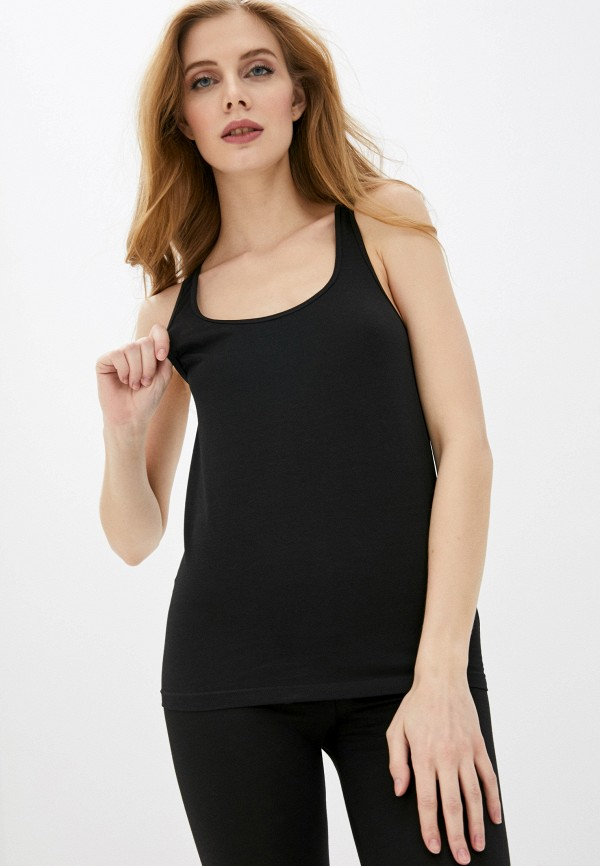 женская майка dsquared underwear, черная