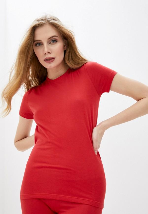 женская футболка dsquared underwear, красная
