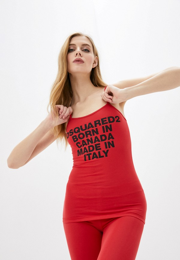 женская майка dsquared underwear, красная