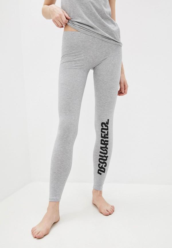 женские леггинсы dsquared underwear, серые