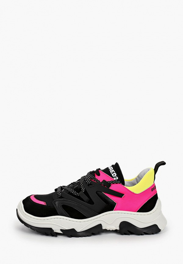 кроссовки dsquared2 для девочки, черные