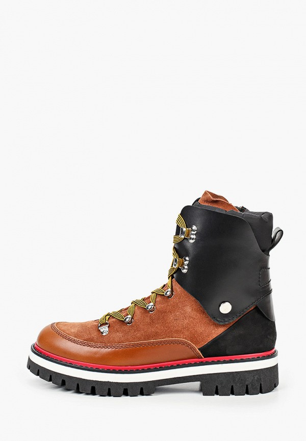 ботинки dsquared2 малыши, коричневые