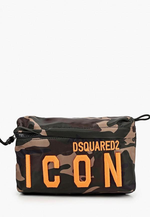 сумка dsquared2 малыши, хаки