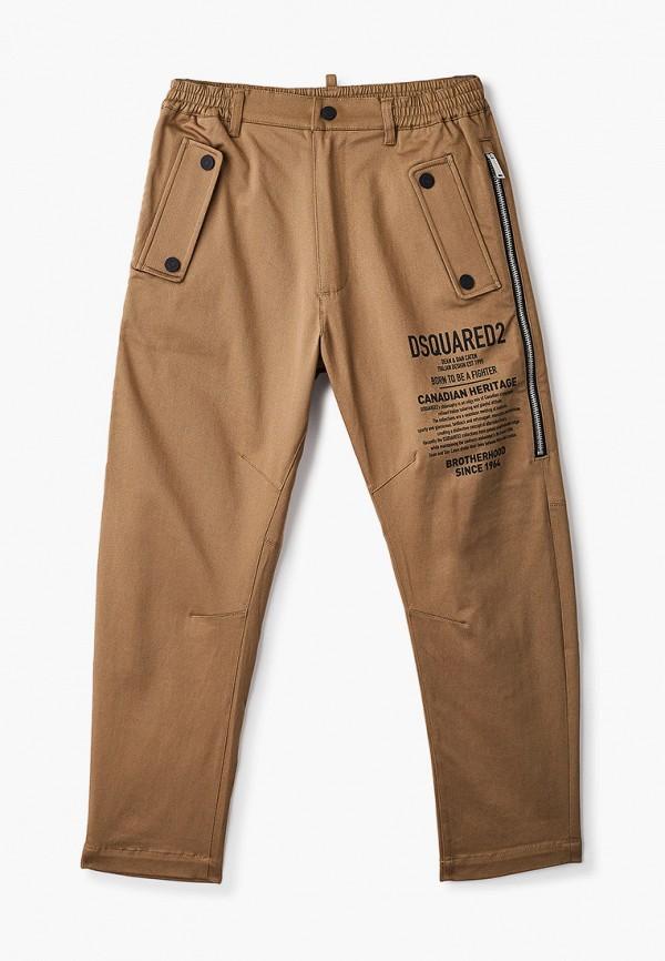 брюки dsquared2 для мальчика, коричневые