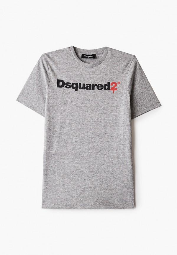 футболка с коротким рукавом dsquared2 для мальчика, серая