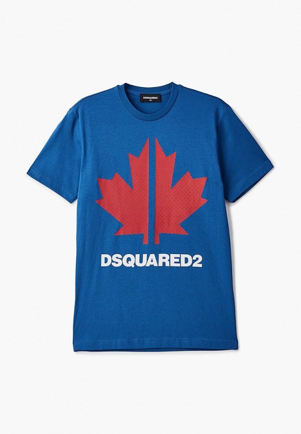 футболка с коротким рукавом dsquared2 для мальчика, синяя