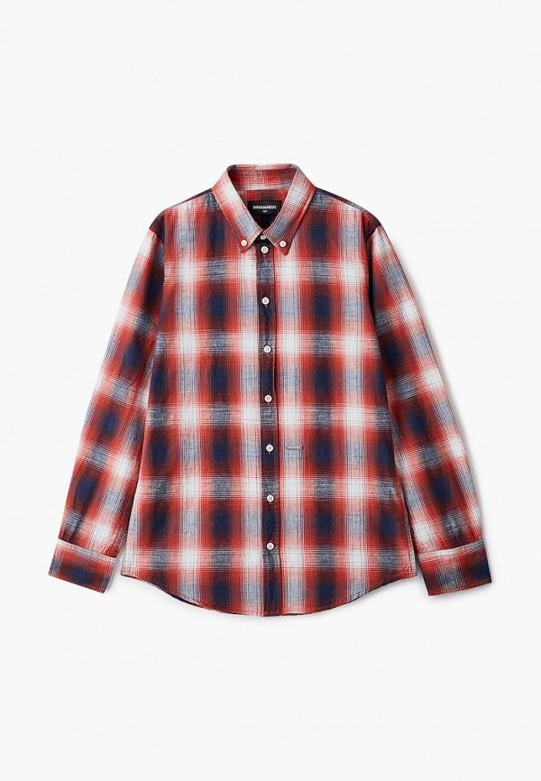 рубашка dsquared2 для мальчика, красная