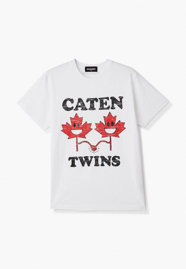 футболка с коротким рукавом dsquared2 малыши, белая