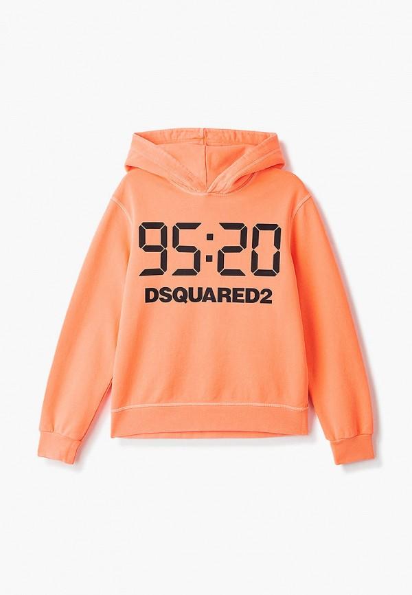 худи dsquared2 малыши, оранжевые