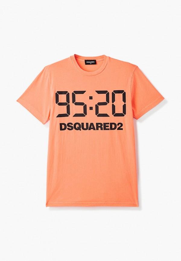 футболка с коротким рукавом dsquared2 малыши, оранжевая