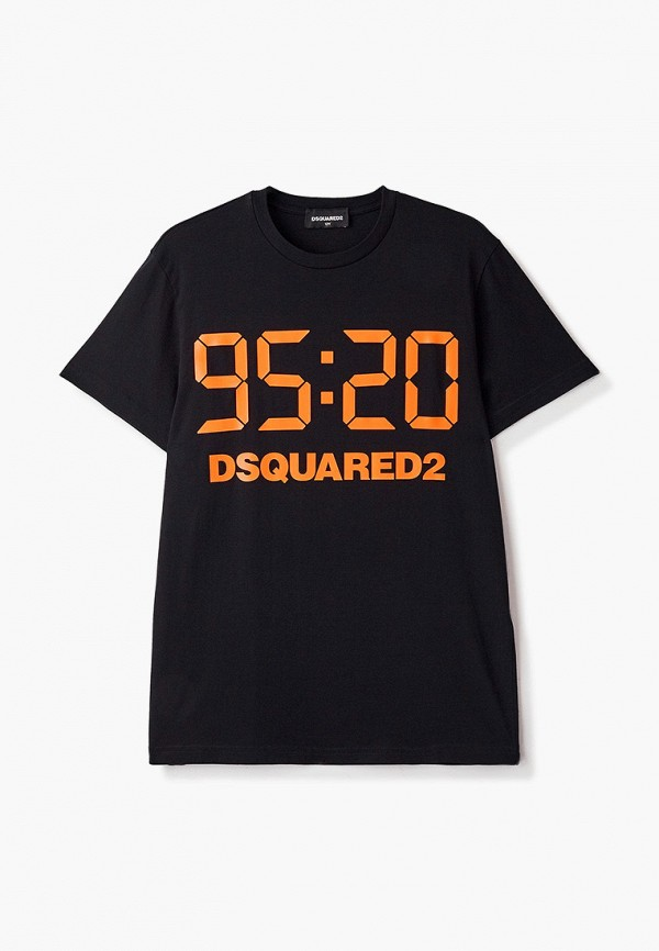 футболка с коротким рукавом dsquared2 малыши, черная