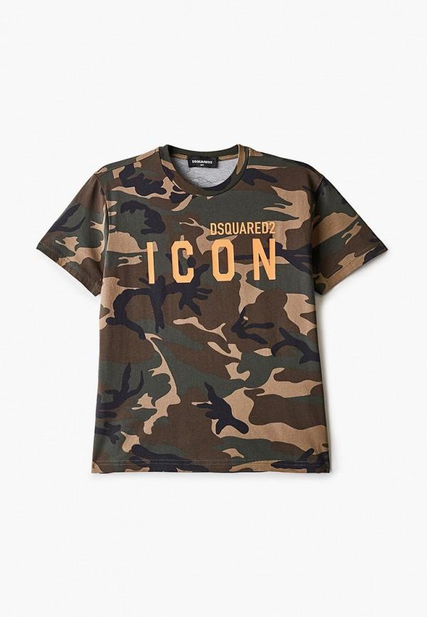 футболка с коротким рукавом dsquared2 малыши, хаки