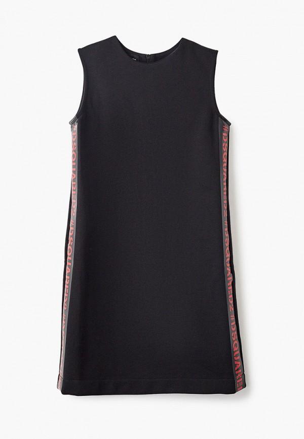 повседневные платье dsquared2 для девочки, черное