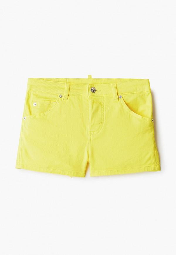 шорты dsquared2 для девочки, желтые