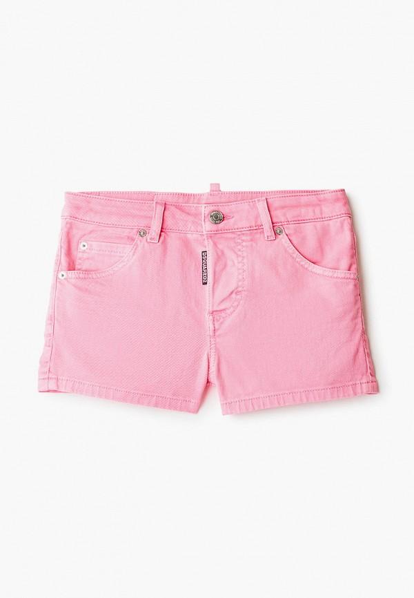 шорты dsquared2 для девочки, розовые