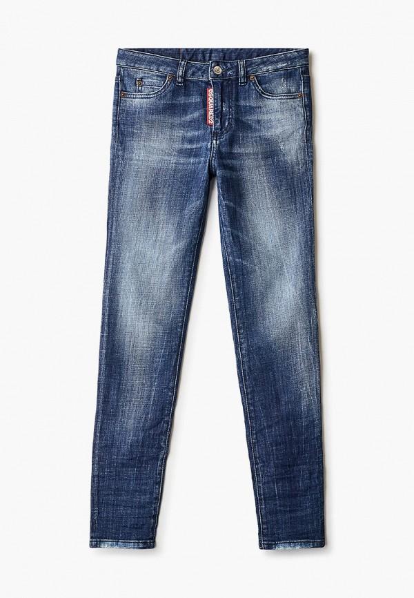 джинсы dsquared2 для девочки, синие