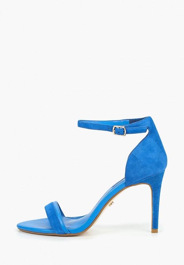 женские босоножки dune, синие