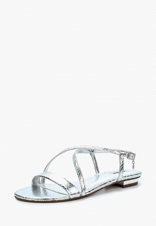 женские сандалии dune, серебряные
