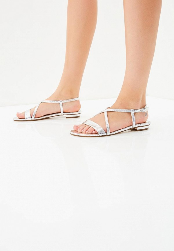 Фото 5 - женские сандали Dune серебрянного цвета