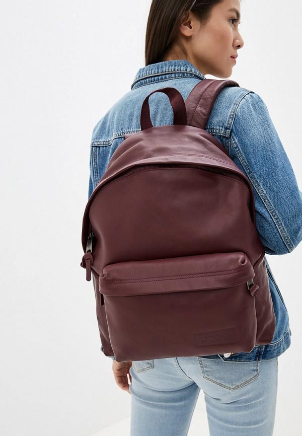Фото 4 - женский рюкзак Eastpak бордового цвета