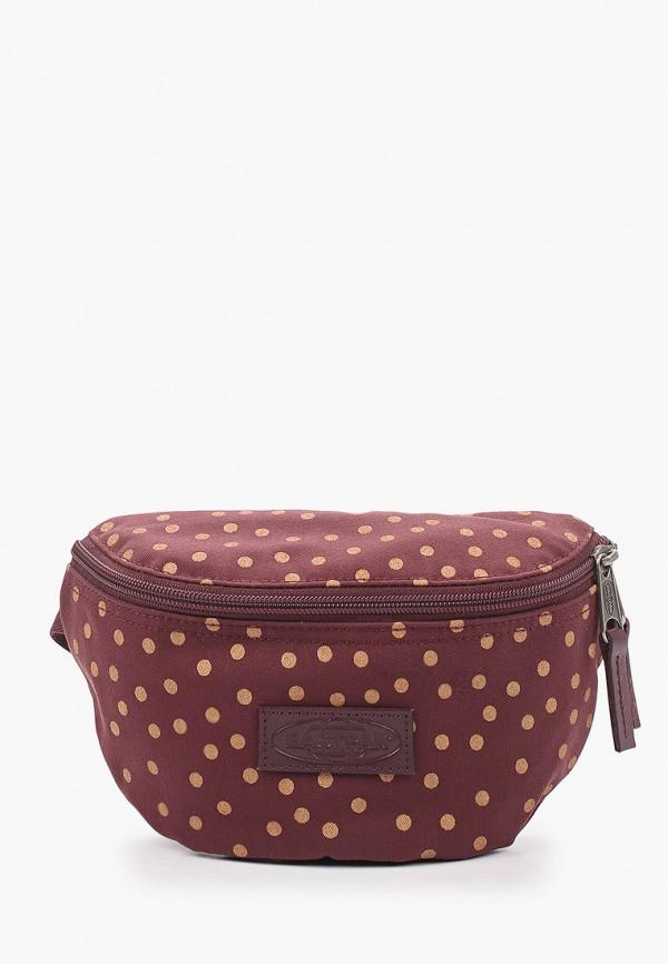 женская сумка eastpak, бордовая