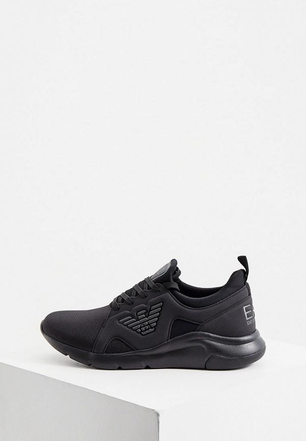 мужские кроссовки ea7, черные