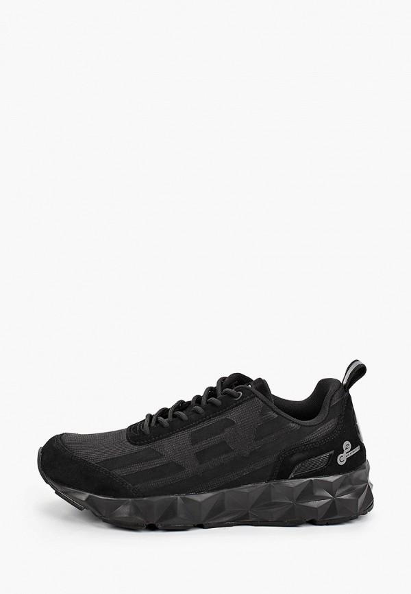 женские низкие кроссовки ea7, черные