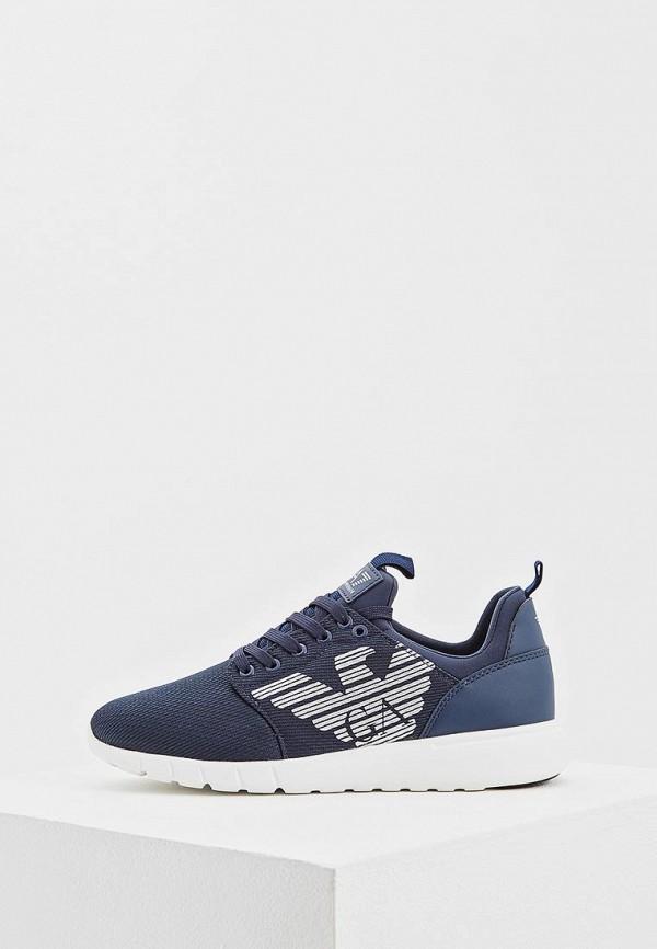женские кроссовки ea7, синие