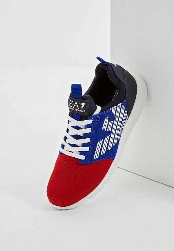 Фото 2 - женские кроссовки EA7 разноцветного цвета