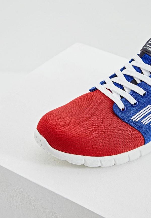 Фото 4 - женские кроссовки EA7 разноцветного цвета