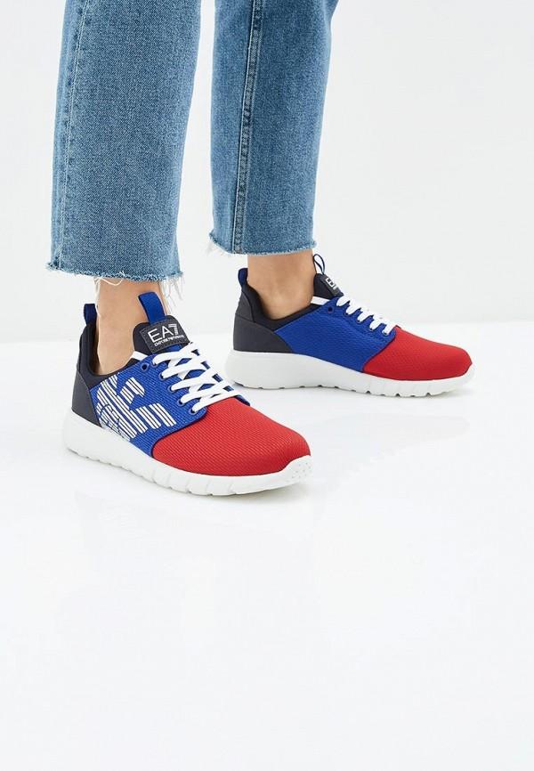 Фото 6 - женские кроссовки EA7 разноцветного цвета