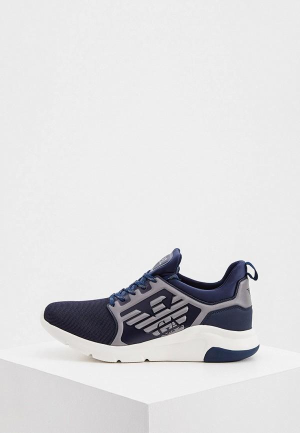 женские низкие кроссовки ea7, синие