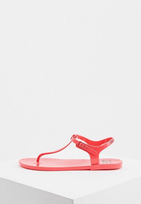 женские сандалии ea7, красные